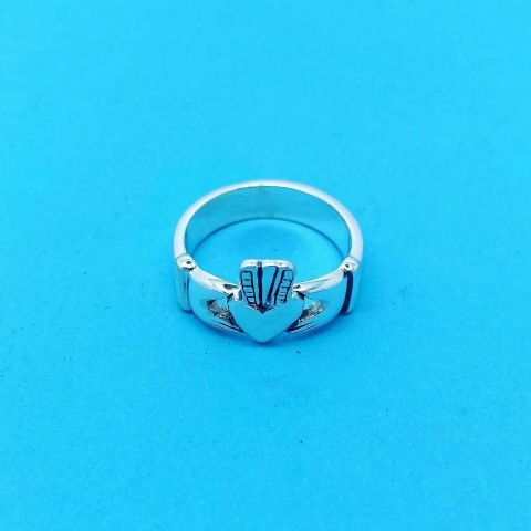 Genuine 925 Sterling Silver Plain Claddah / Sacred Heart Ring - X